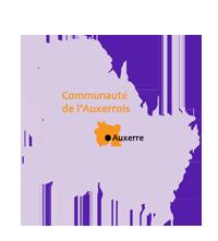 Carte Communauté de l'Auxerrois