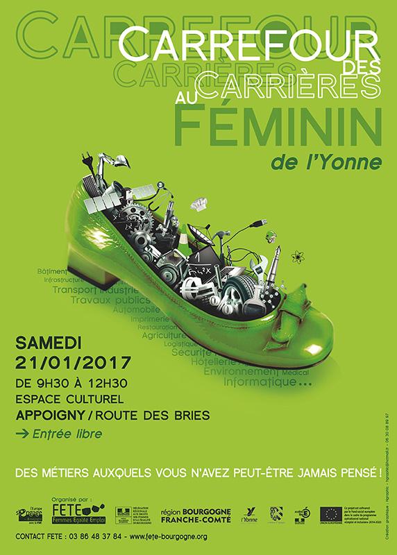 Affiche Carrefour des Carrières au Féminin